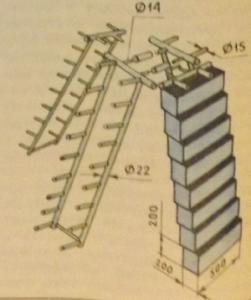 Устройство вертикальной грядки.