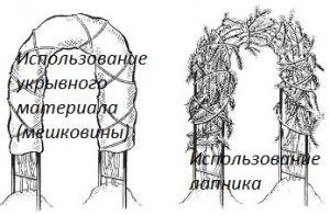Материал для укрытия роз на зиму