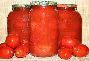 Помидоры в томатном соке.
