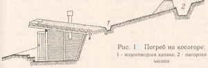 Рис. 1. Погреб на косогоре