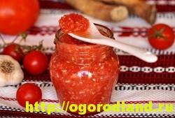 Горлодер из помидор с чесноком и яблоками