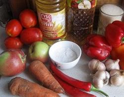 Аджика «От мамы» с помидорами,яблоками, морковью..