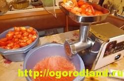 Как измельчить помидоры в горлодер