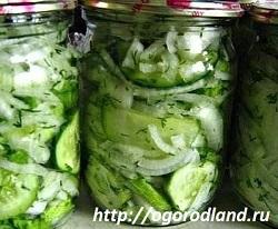 Салат из огурцов на зиму.