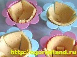 Приготовление сырных тарталеток в силиконовых формочках