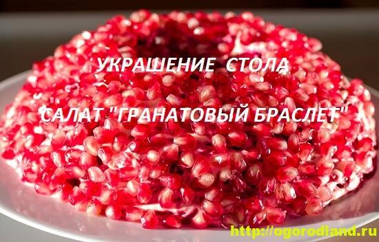 Рецепт салата гранатовый браслет.