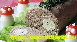Печеночный рулет с куриными яйцами