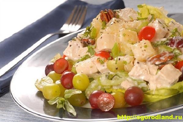 Фруктовый салат с орехами. Рецепт приготовления салата 1