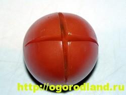 Салат-закуска «Тюльпаны» из фаршированных помидор 5