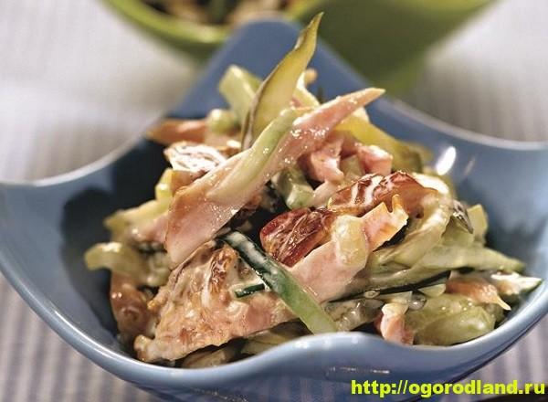 Салат с копченной курицей. Вкусные рецепты салатов 3