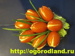 Салат-закуска «Тюльпаны» из фаршированных помидор 9