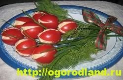 Салат-закуска «Тюльпаны» из фаршированных помидор 7