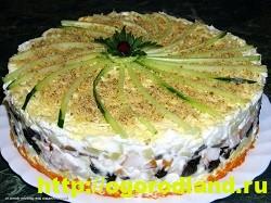 Салат с копченной курицей. Вкусные рецепты салатов 7