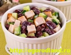 Салат с копченной курицей. Вкусные рецепты салатов 15