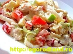 Салат с копченной курицей. Вкусные рецепты салатов 13