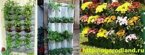 Декоративный огород. Как сделать вертикальные грядки 7