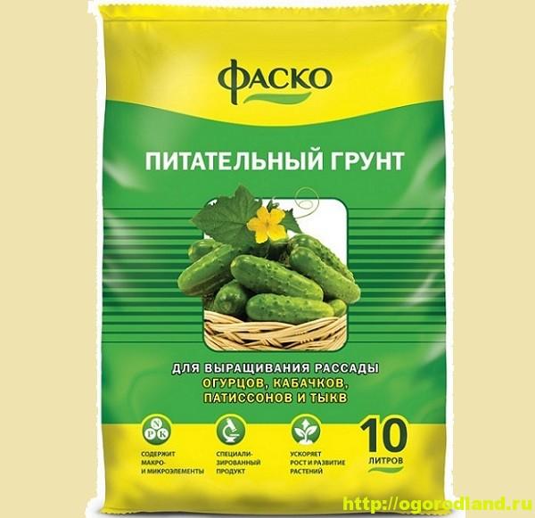 Рассадный грунт Фаско для рассады огурцов