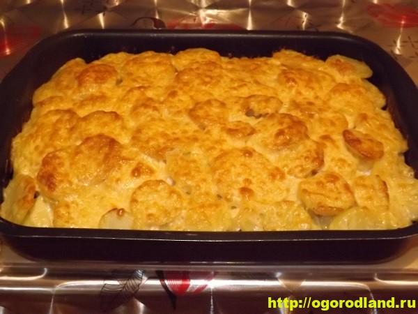 Картошка с мясом и солеными огурцами в духовке рецепт пошагово