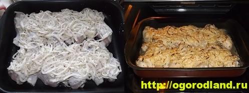 Курица с картошкой в духовке. Пошаговый рецепт с фото 13