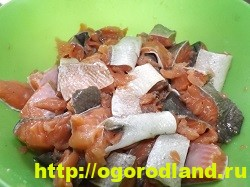 Рыба с картошкой слоями в духовке