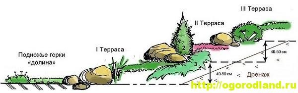 Альпинарий. Как сделать альпийскую горку. Подробное описание 7