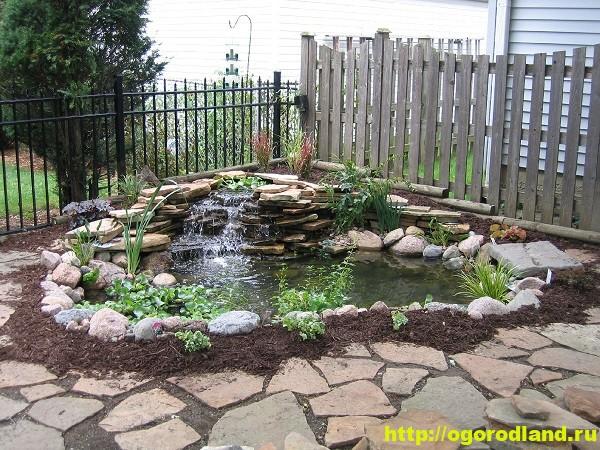 Декоративные пруды с фонтанами и каскадами : фото