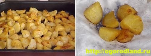 Картофель в духовке, запеченный кусочками 13