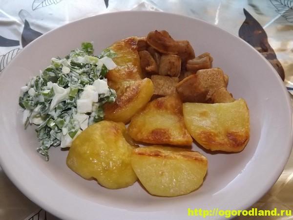 Картофель в духовке, запеченный кусочками 1