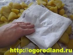 Картофель в духовке, запеченный кусочками 7