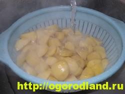 Картофель в духовке, запеченный кусочками