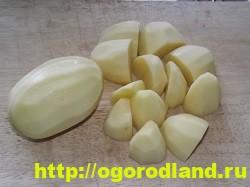 Картофель в духовке, запеченный кусочками 3