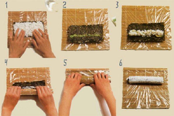 Как готовить роллы в домашних условиях видео 4