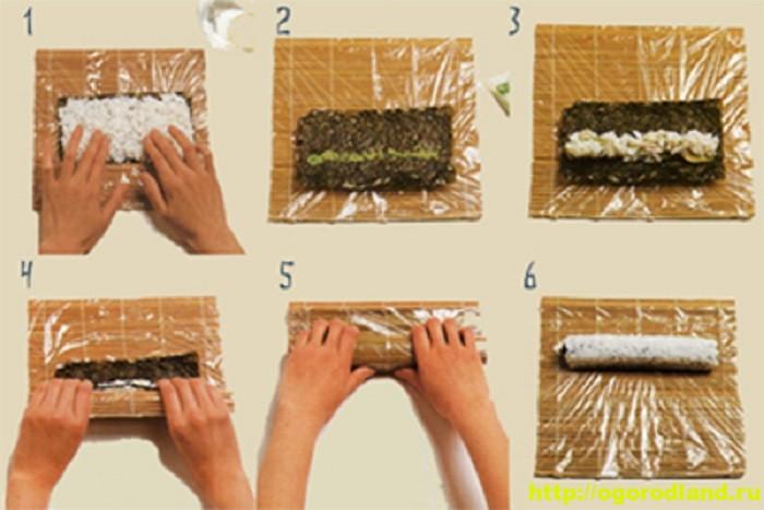 как сделать суши и роллы дома видео - 2