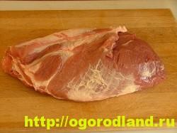 Мясо в духовке (в фольге с овощами)
