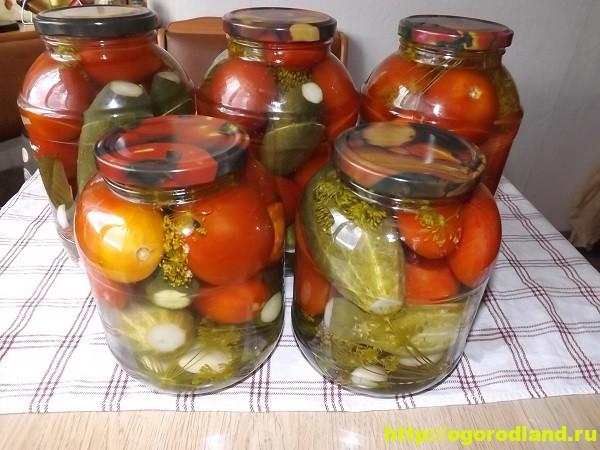 Ассорти - помидоры и огурцы на зиму. Пошаговый рецепт с фото 4