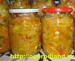 Салаты из зелёных помидоров. Рецепты на зиму 4