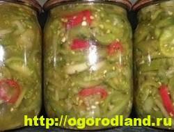 Салаты из зелёных помидоров. Рецепты на зиму 2