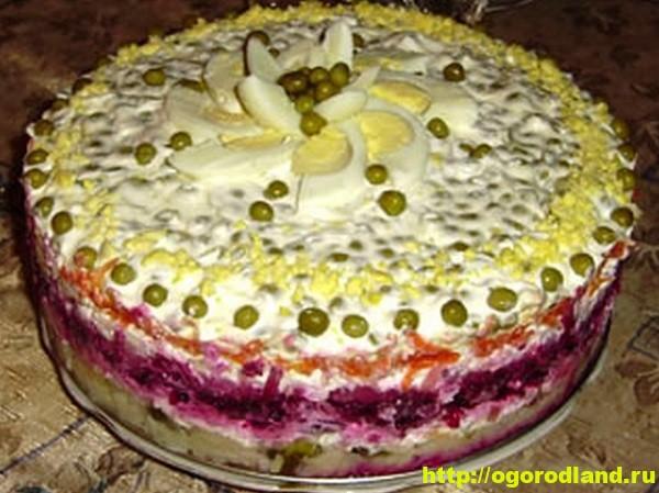 Праздничный овощной торт. Рецепт приготовления