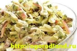 Салаты с крабовыми палочками. Рецепты праздничных салатов 10