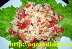 Салаты с крабовыми палочками. Рецепты праздничных салатов 9