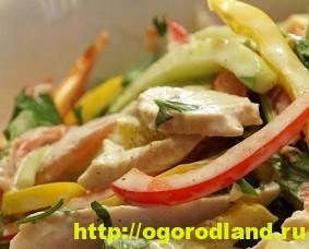 Салаты с курицей. Рецепты вкусных салатов на праздник 5