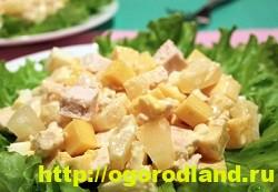 Готовим салаты с курицей. Подборка рецептов вкусных салатов 11