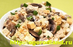 Готовим салаты с курицей. Подборка рецептов вкусных салатов 5