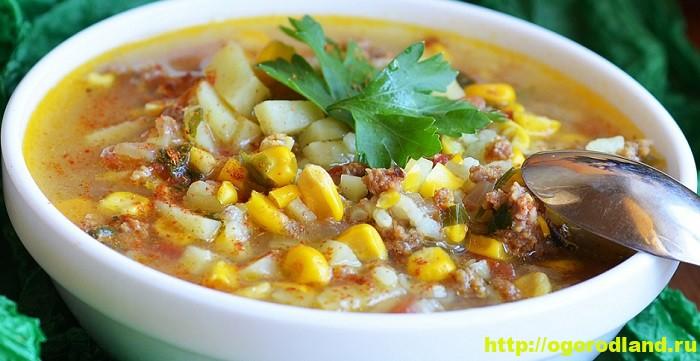 Супы с кукурузой. Подборка рецептов вкусных кукурузных супов 4