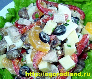 Салаты с мандаринами. Топ 6 рецептов оригинальных салатов 4