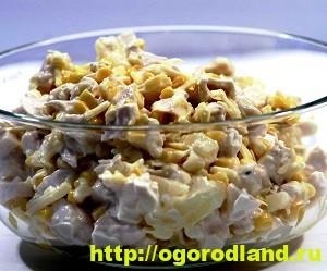 Салаты с ананасом. Рецепты вкусных и оригинальных салатов 4