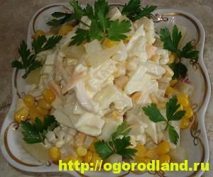 Салаты с ананасом. Рецепты вкусных и оригинальных салатов 13