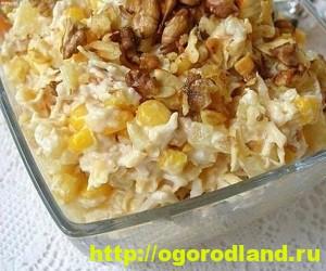 Салаты с ананасом. Рецепты вкусных и оригинальных салатов 3