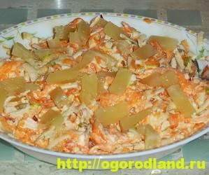 Салаты с ананасом. Рецепты вкусных и оригинальных салатов 10