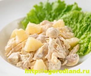 Салаты с ананасом. Рецепты вкусных и оригинальных салатов 6